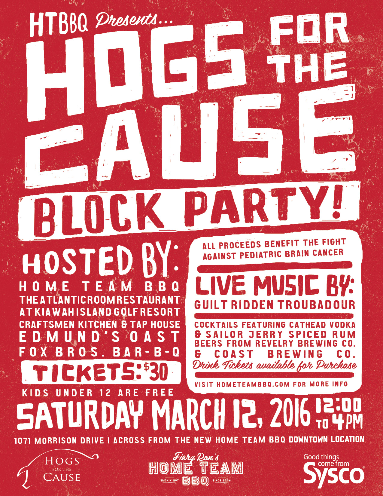 Home Team BBQ Organizes Hogs for the Cause Block Party Tickets
