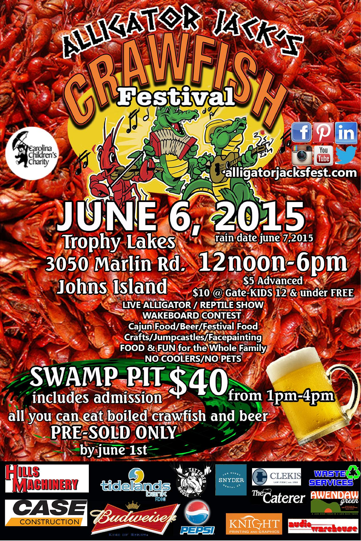 alligator jack u0026 39 s crawfish festival tickets