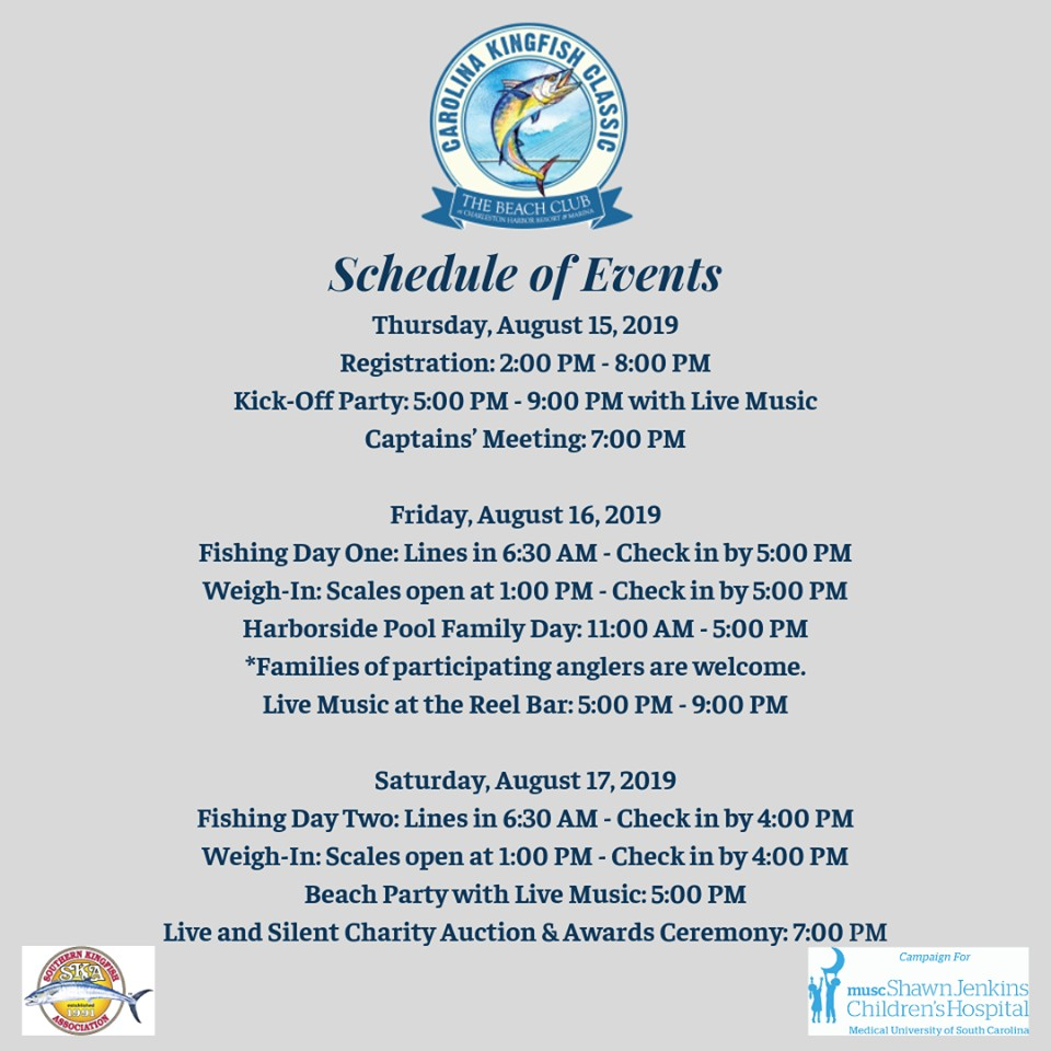 The Carolina Kingfish Classic Beach Party and Charity Auction benefiting  the campaign for the MUSC Shawn Jenkins Children's Hospital Tickets |